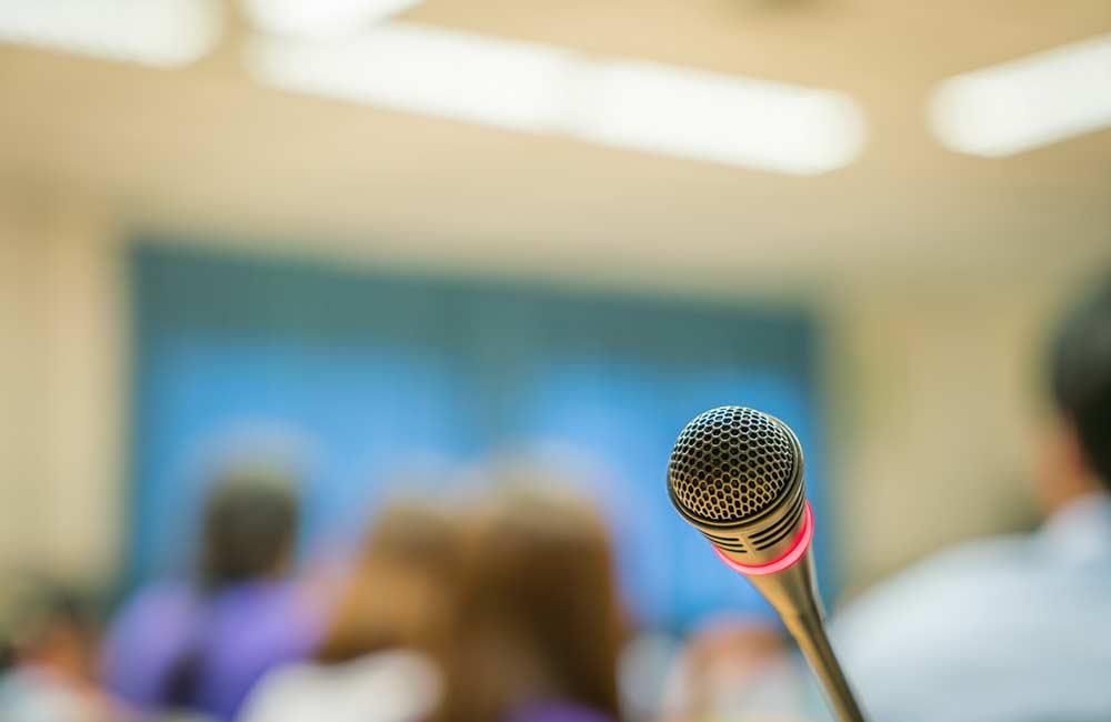 Falar em público / microfone