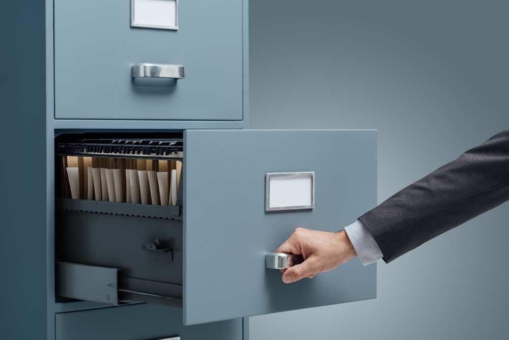 Arquivo / organização no escritório
