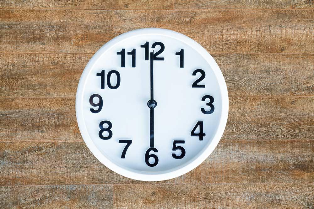 Relógio, conceito de pontualidade