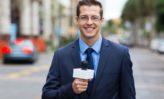repórter na rua