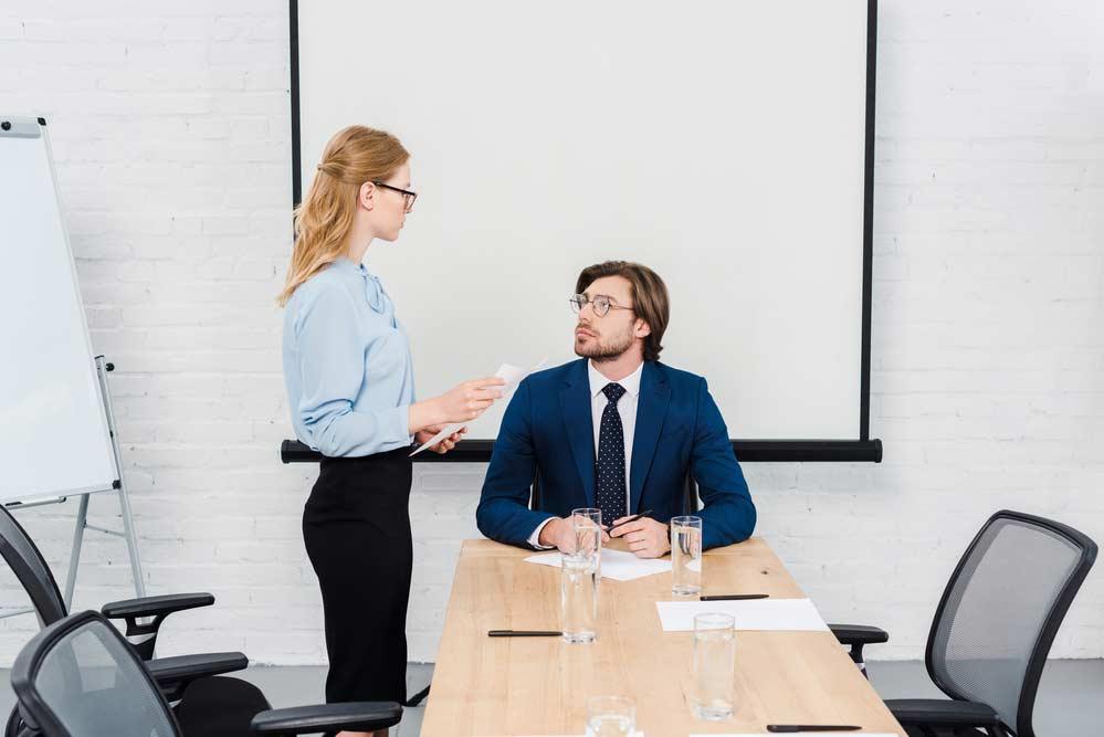 Falando com o chefe
